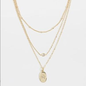 Jules Smith Dainty Layered Charm Oval Necklace